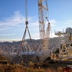 Antena de recepção de 34m de diametro e 114t