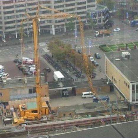 Jib quebra na Holanda em estação ferroviaria