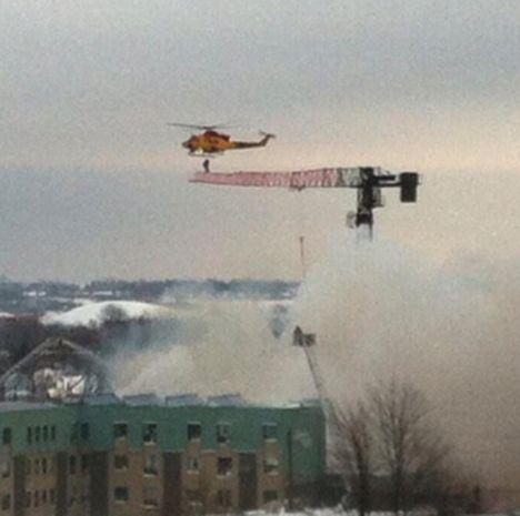 Resgate de operador em incendio via helicoptero