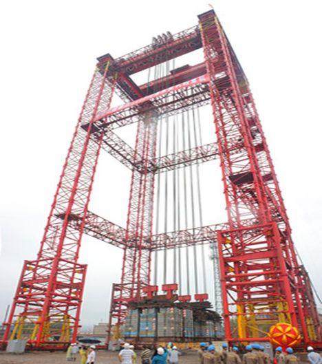 Torre de elevação para 6400t